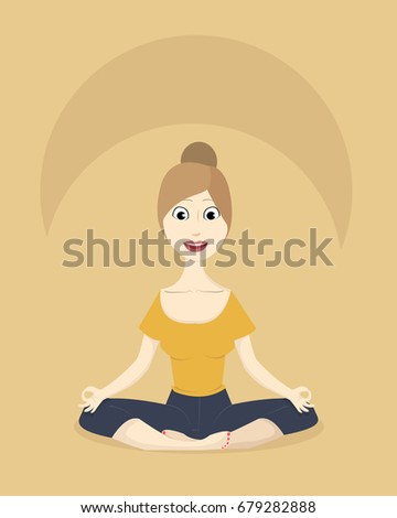 woman practicing yoga in lotus position