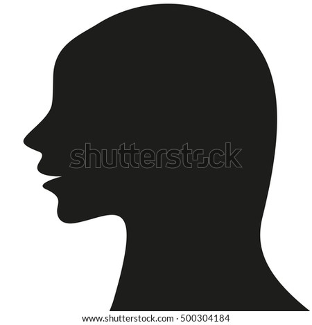 Woman profile icon isolated on a white background