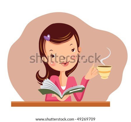 woman relaxing. vector illustration - stock vector