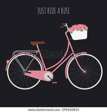 Woman's bicycle . Vector illustration - stock vector