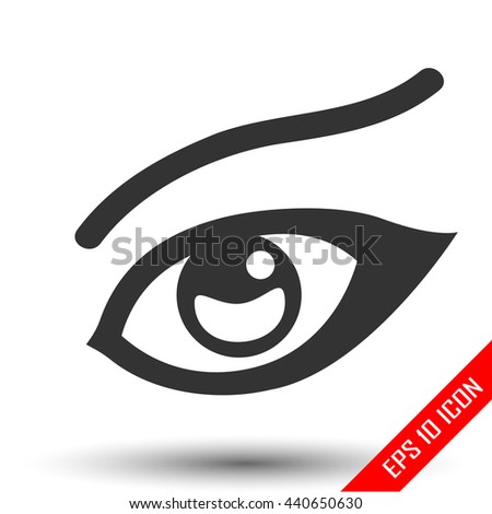 Woman's eye icon. Woman's Sight icon. Female Eye Icon, Girl Eye Icon Vector, Eye Icon Flat, Eye Icon Sign, Eye Icon App, Eye Icon Art, Eye Icon Logo, Eye Icon Web, Eye Icon JPG, Eye Icon, Eye Icon EPS - stock vector