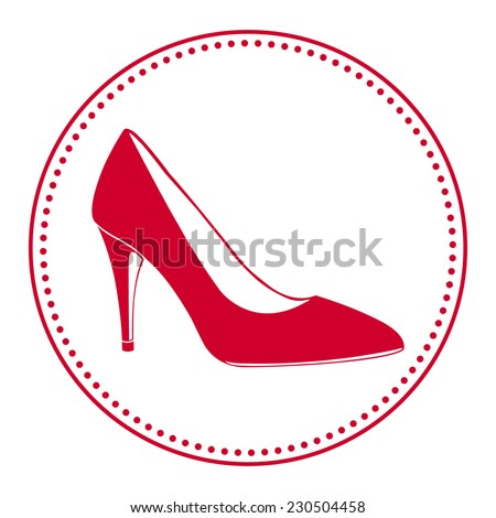 Stock images similar to id 172733204 foot print icons for High heel shoe design template