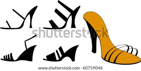 Woman sandals - stock vector