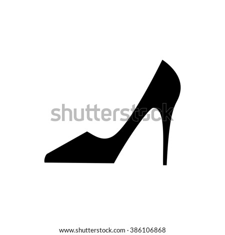 Woman shoes vector icon in flat style.  Fashion woman shoes in flat style. Woman shoes isolated. Woman shoes vector. Woman shoes classic. Women's high-heeled shoes. Woman shoes art. Woman shoes web - stock vector