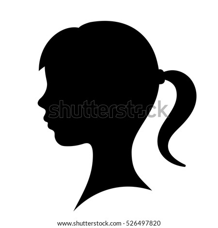 Young Woman Face Profile Black Silhouette Stock Vector 360086534 ...