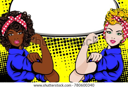 Woman Vs Woman We Can Do Stock Vector Royalty Free 780600340