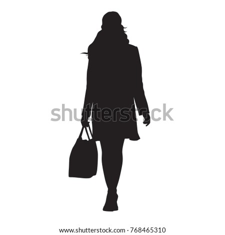 Shopping Lady Shape Vector Design Stock Vector 484775608 ...