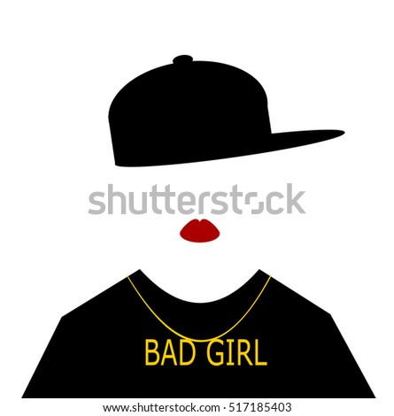 woman with baseball cap sideways and bad girl necklace