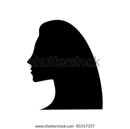 woman with black hair. beautiful girl. - stock vector