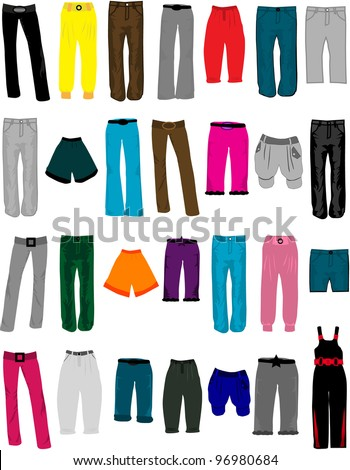 women clothes - stock vector