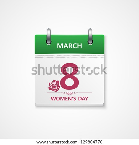 women day calendar - stock vector