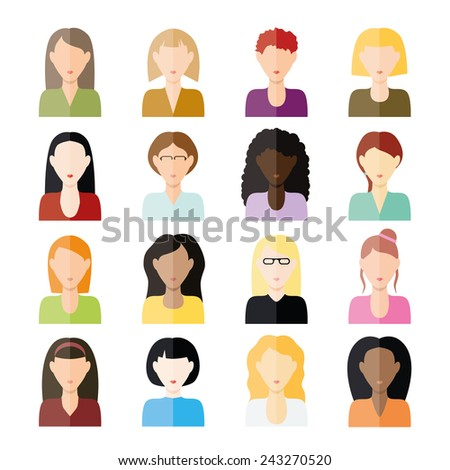 women icons - stock vector