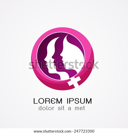 women logo.- vector illustrator  - stock vector