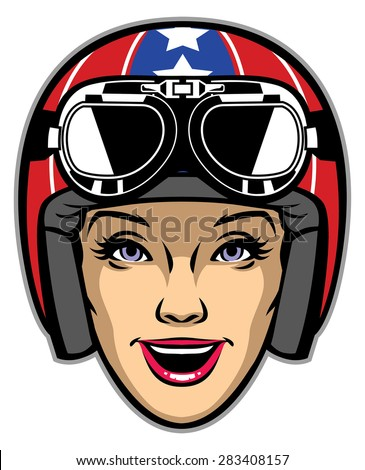 Motorcycle Girl Stock Images Royalty Free Images