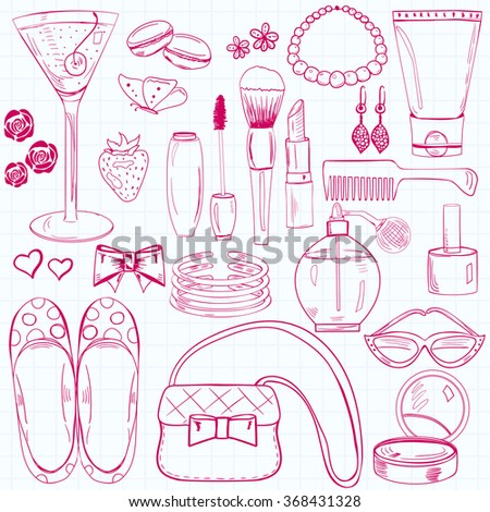 Women's accessories and cosmetics