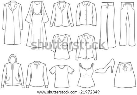 Women's clothes - stock vector
