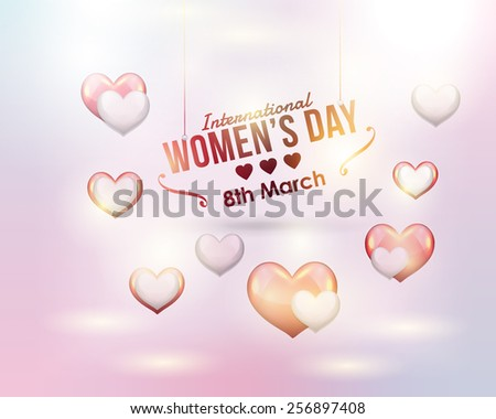 Women's Day Abstract Background - stock vector