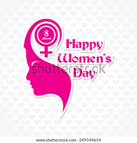 Women's day greeting card design vector illustration - stock vector