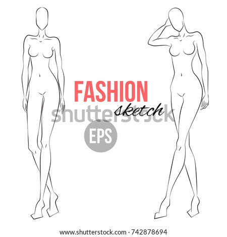 Fashion figure template stock images royalty free images fashion illustration womens figure sketch different poses template for drawing for designers of clothes vector pronofoot35fo Gallery