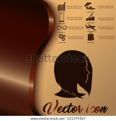 Women's haircut bob. Illustration for beauty salons and hairdressers