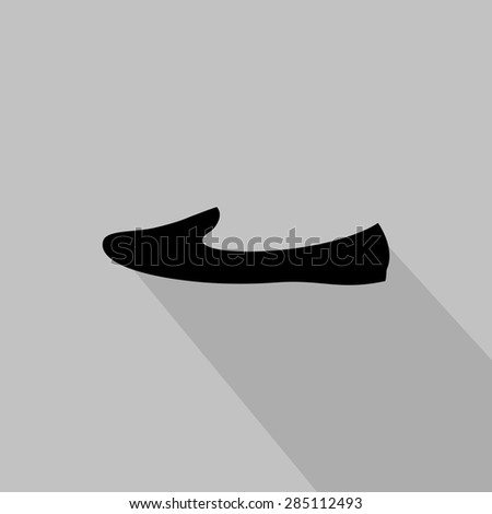Women's loafer monochrome icon. Vector illustration