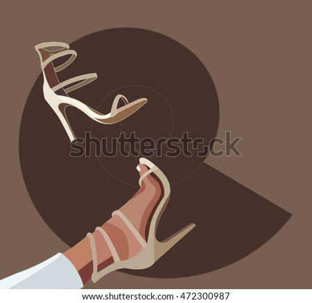 women's sandals on a brown background