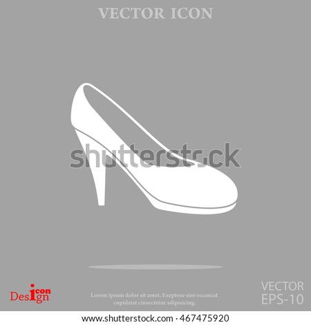 women's shoe vector icon
