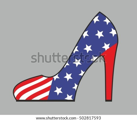 Women's shoes in the american style