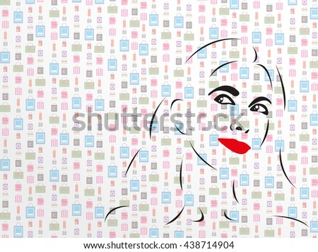 Women's thoughts about shopping. Abstract vector illustration. Color appearance. - stock vector