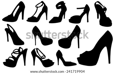 women shoes set  - stock vector