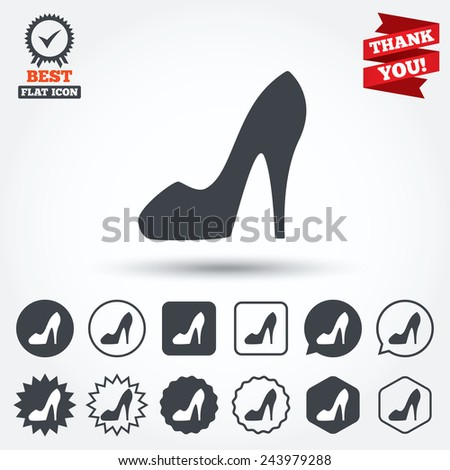 Womens shoes icon Stock Vector Y Best3d #57186827