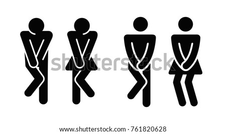 Womens and mens toilet icon sign. Vector