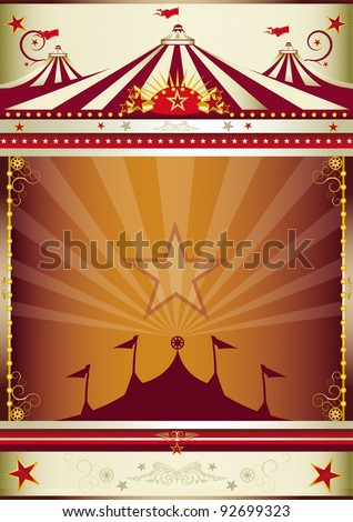 wonderful circus background. An old style circus poster for you. - stock vector