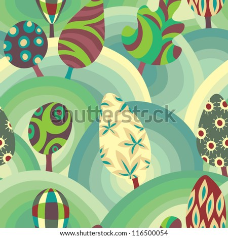 Wonderful forest - stock vector