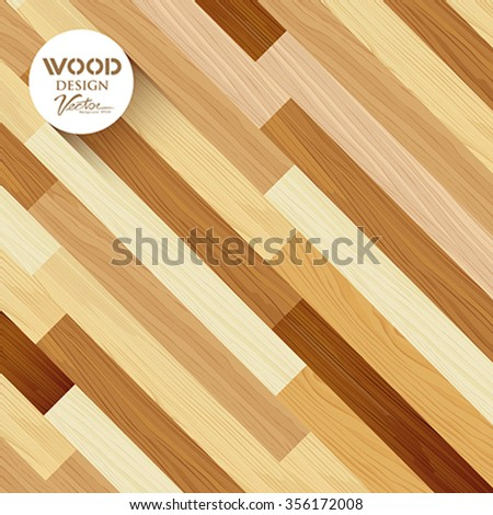 Wood abstract floor colored striped oblique concept design background, vector illustration - stock vector