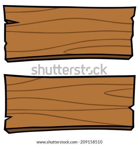 Wood Boards - stock vector