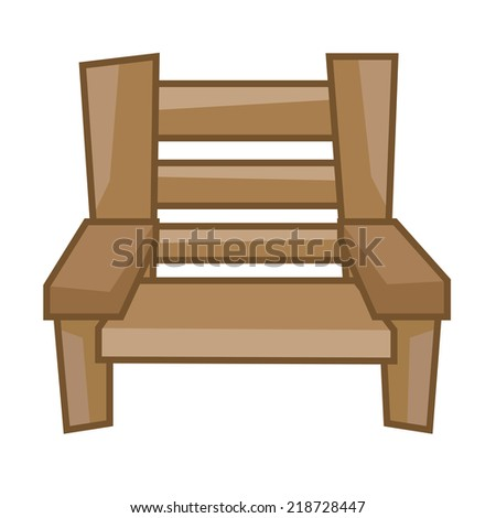 wood Chair isolated illustration on white background