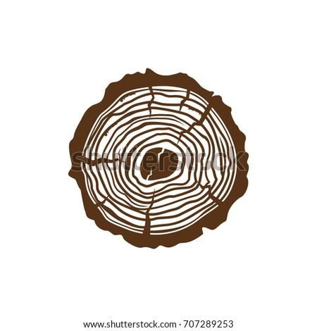 Wood Company Logo Stock Vector 707289253
