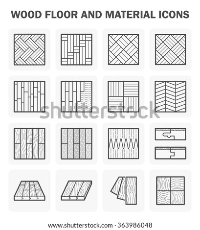 Wood floor and material vector icon sets design. - stock vector