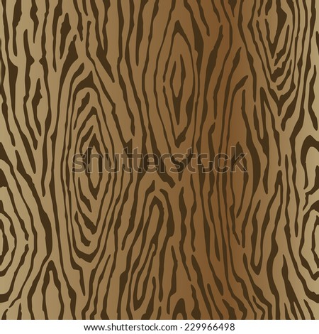 Wood grain texture background with a vertical gradient repeats seamlessly. - stock vector