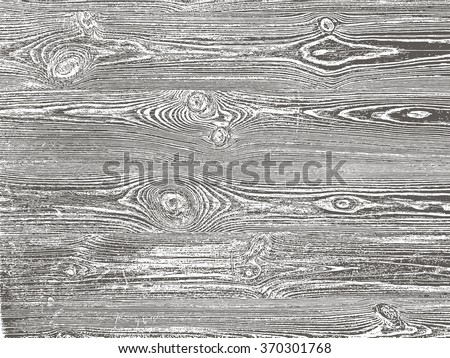 Wood grunge texture in black and white. Wooden background. Vector template.  Grunge vector texture. - stock vector