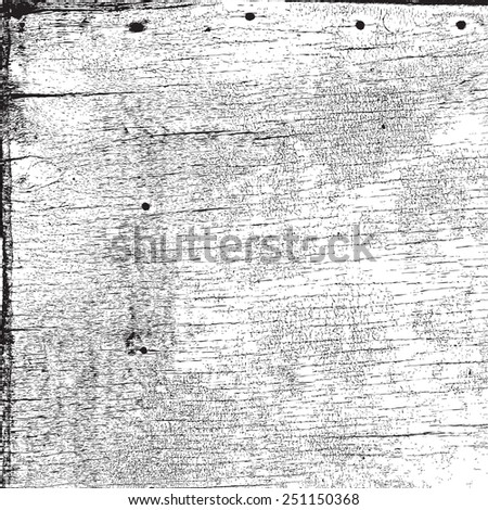 Wood grungy texture, with a horizontal pattern of crackle. For your design. EPS10 vector. - stock vector