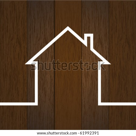 wood house concept - stock vector