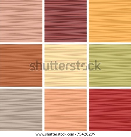 wood of different breeds - stock vector