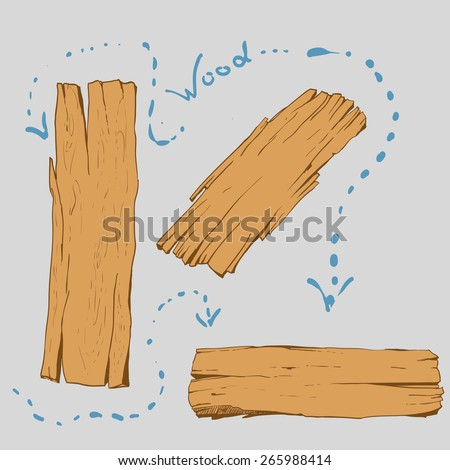 Wood plank.Vector Illustration.