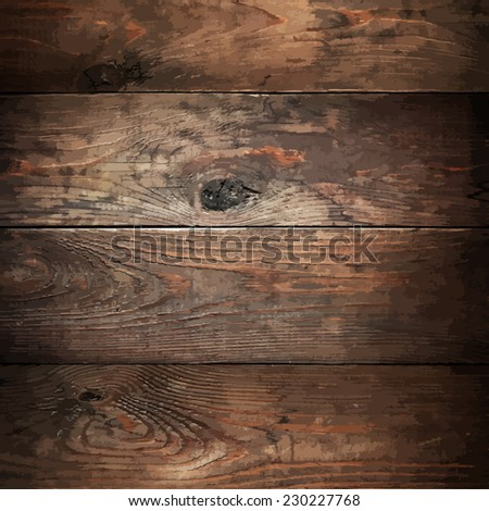 Wood planks traced texture - stock vector
