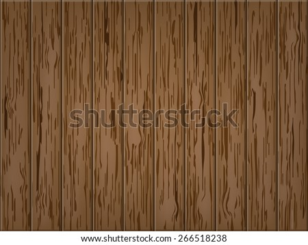 wood table top view - stock vector