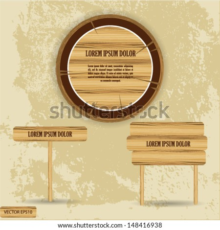 wood texture - stock vector