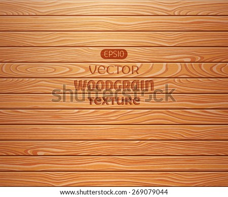 Wood texture background. EPS 10 vector illustration. - stock vector