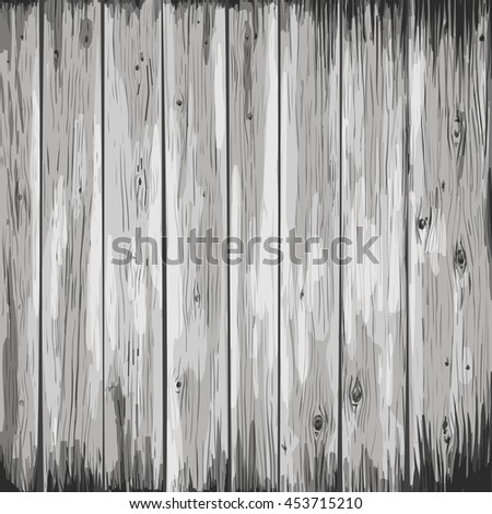 wood texture illustration in gray colors. wooden background. Vector illustration. flat design. wood surface texture. - stock vector